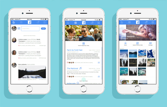 Facebook Mobile Redesign